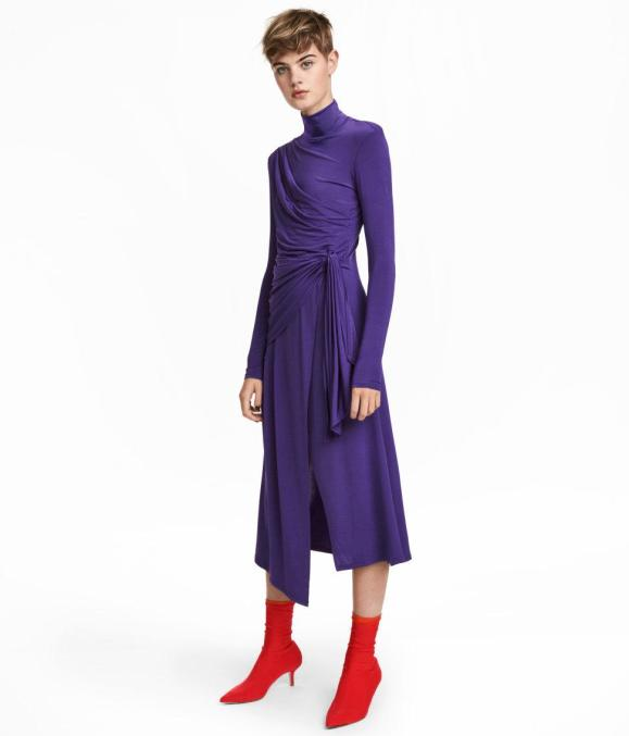 hm-Purple-Draped-Dress