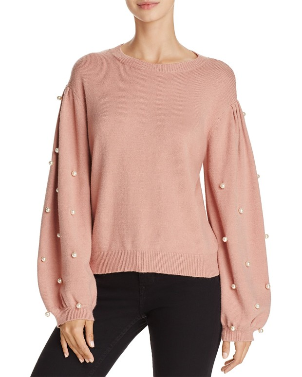 Sunsetandspringpearlsweater