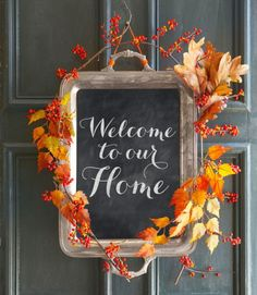 Welcometoourhomechalkboardsign