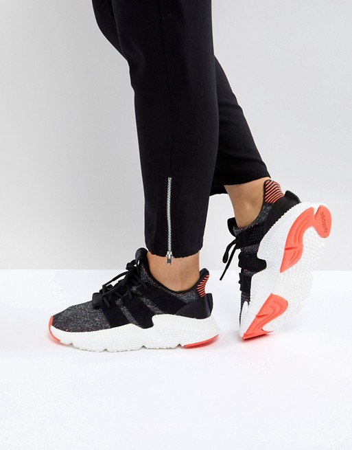 adidas Originals Prophere Sneakers In Black And Pink